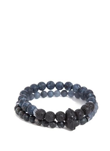 Mavi Erkek   Bileklik 092312-32162 Siyah